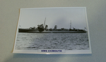 1934 HMS Exmouth Destroyer warship framed picture
